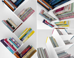 3d model books set