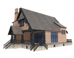 3D model realtime Low Poly House