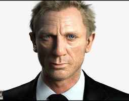 Realistic Daniel Craig 3D model
