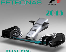 mercedes w06 front wing 3d model low-poly max obj 3ds fbx c4d ma mb