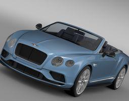 Bentley Continental GT V8 S Convertible 2015 3D Model