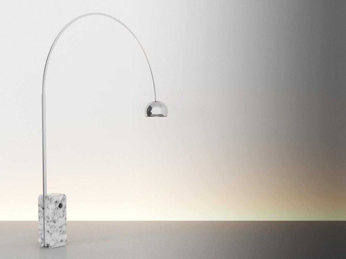 Arco Floor Lamp 2 3D Model MAX OBJ FBX MTL  CGTradercom