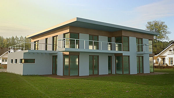 3d model minimalist modern house cgtrader for Exterior 3d model