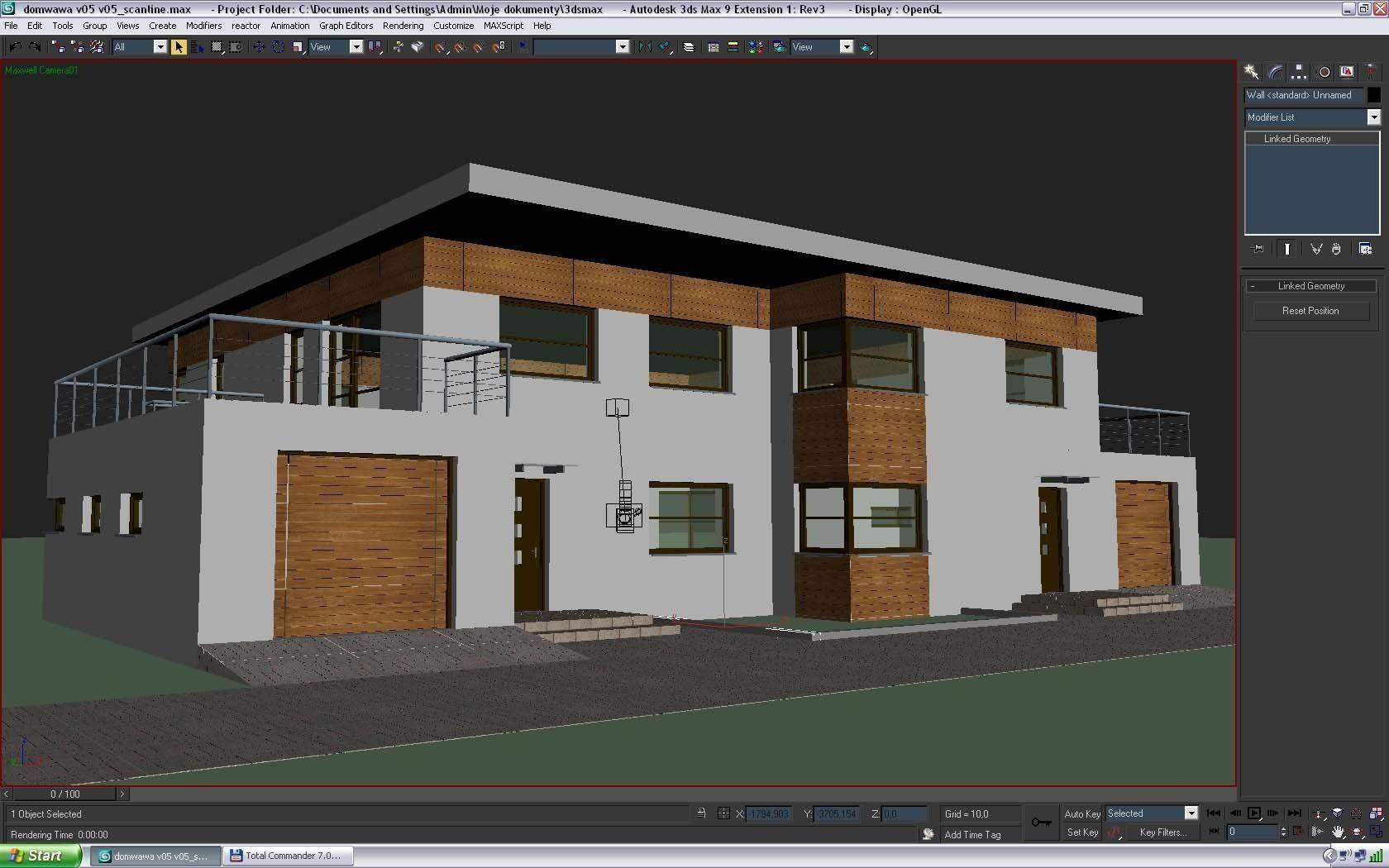 Minimalist modern house 3d model m 3ds fb 4d lwo lw lws m mb