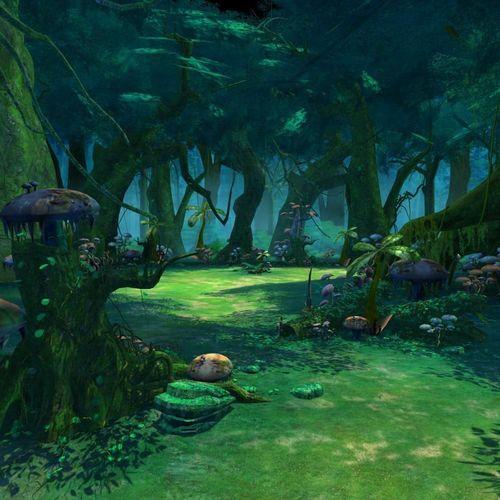 cartoon forest scene 3d model max obj mtl tga 1