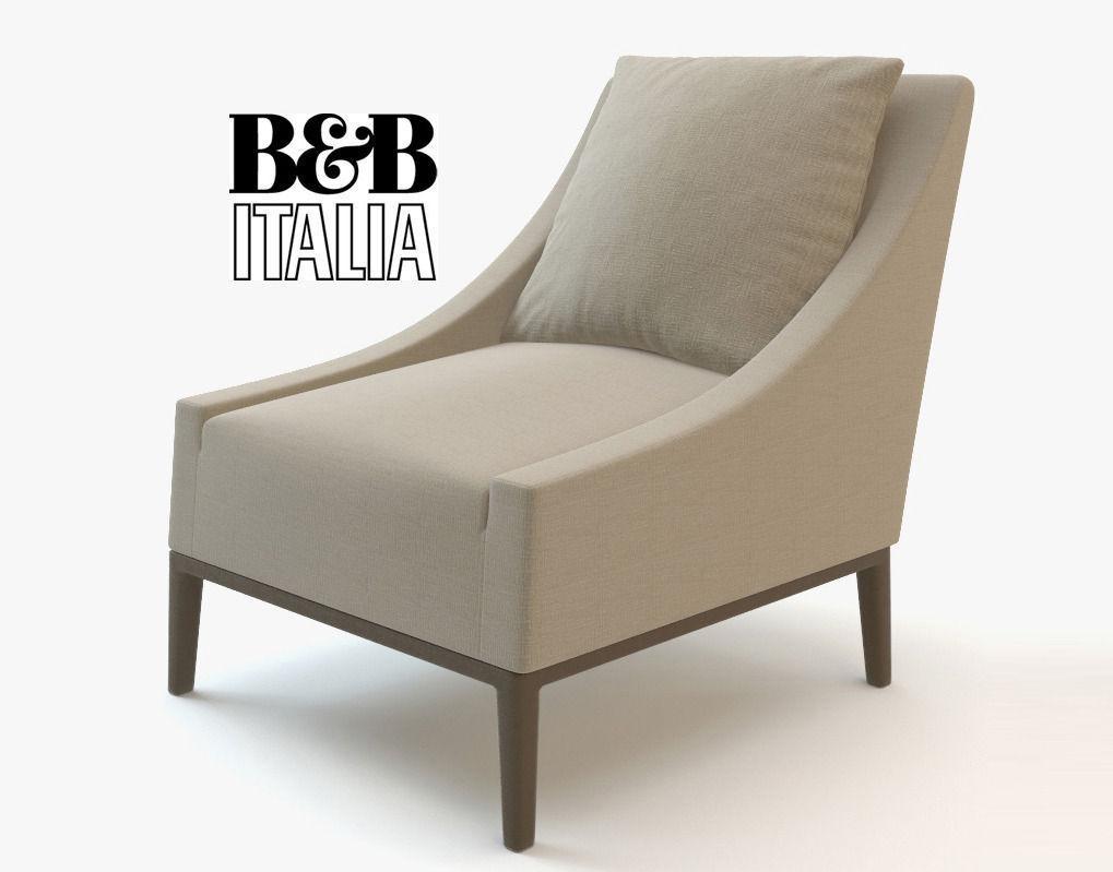Jean Lounge Bb Armchair Italia 3dCgtrader HE2DIYW9