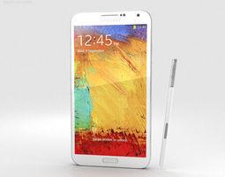 Samsung Galaxy Note 3 White 3D stylus