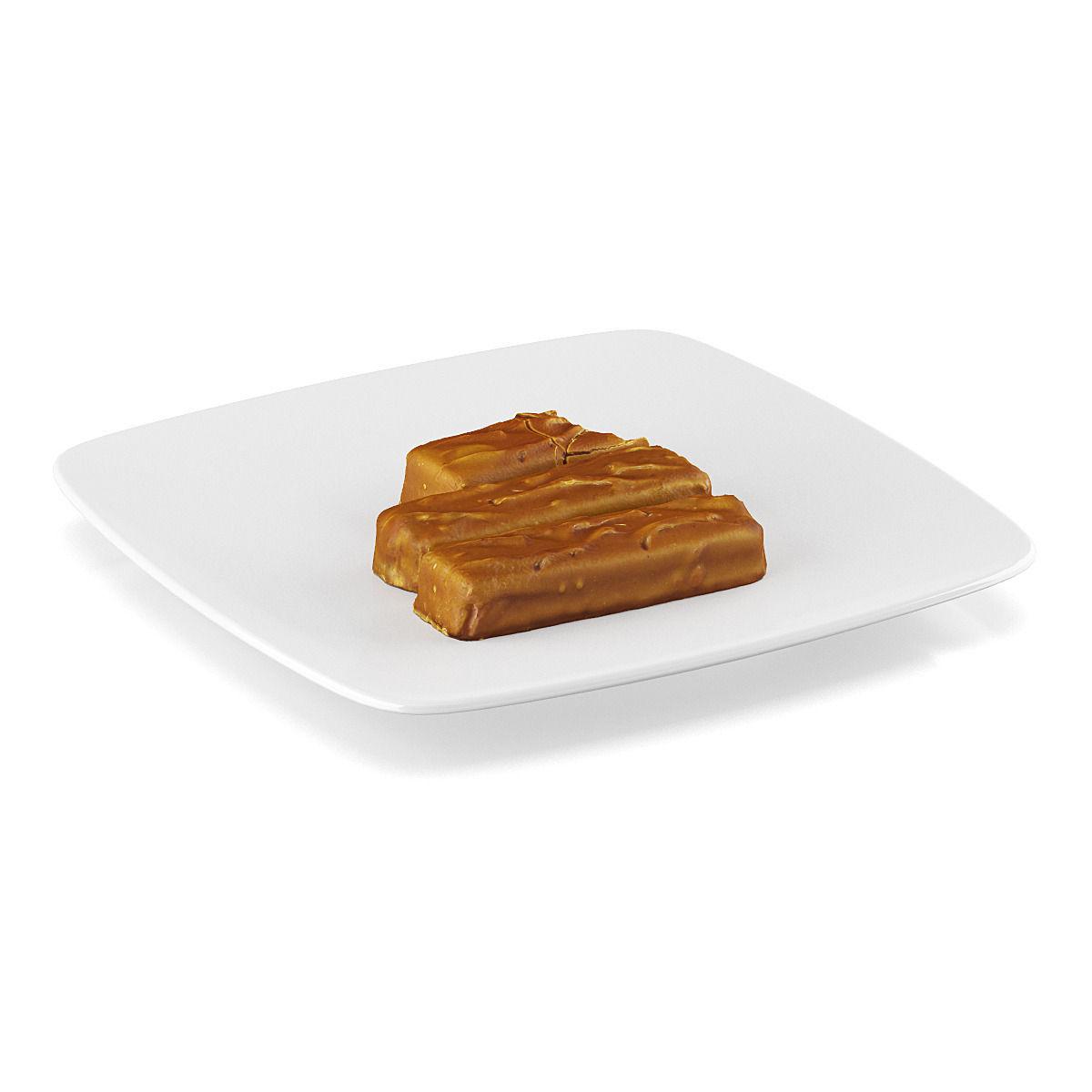 Chocolate bars 3 3d model max obj fbx c4d mtl for Food bar 3d model