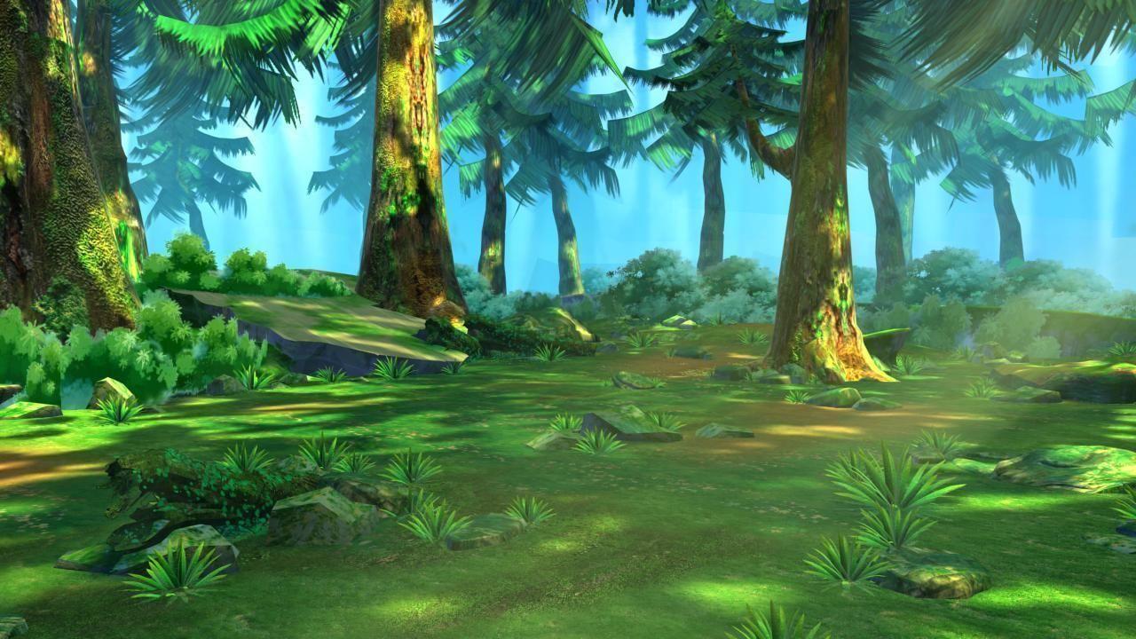 ... cartoon forest scene 02 3d model max 3ds fbx tga 9 ...