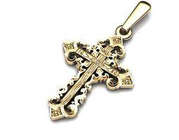3d printable model cross patterned religion 3