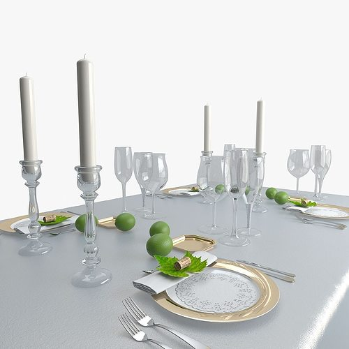 table ware 1 3d model max obj mtl 1