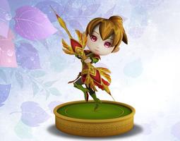 animated little fairy 3d model