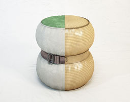 3d model diesel chubby chic pouf s by moroso