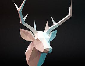3D model Head deer