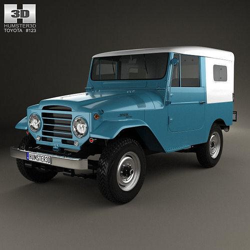 toyota land cruiser softtop 1958 3d model max obj mtl 3ds fbx c4d lwo lw lws 1