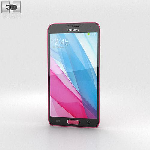 samsung galaxy j pink 3d model max obj 3ds fbx c4d lwo lw lws 1