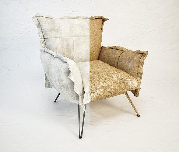 diesel cloudscape armchair by moroso 3d model max obj mtl fbx 1