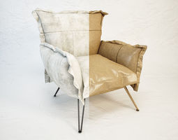 diesel cloudscape armchair by moroso 3d model max obj fbx