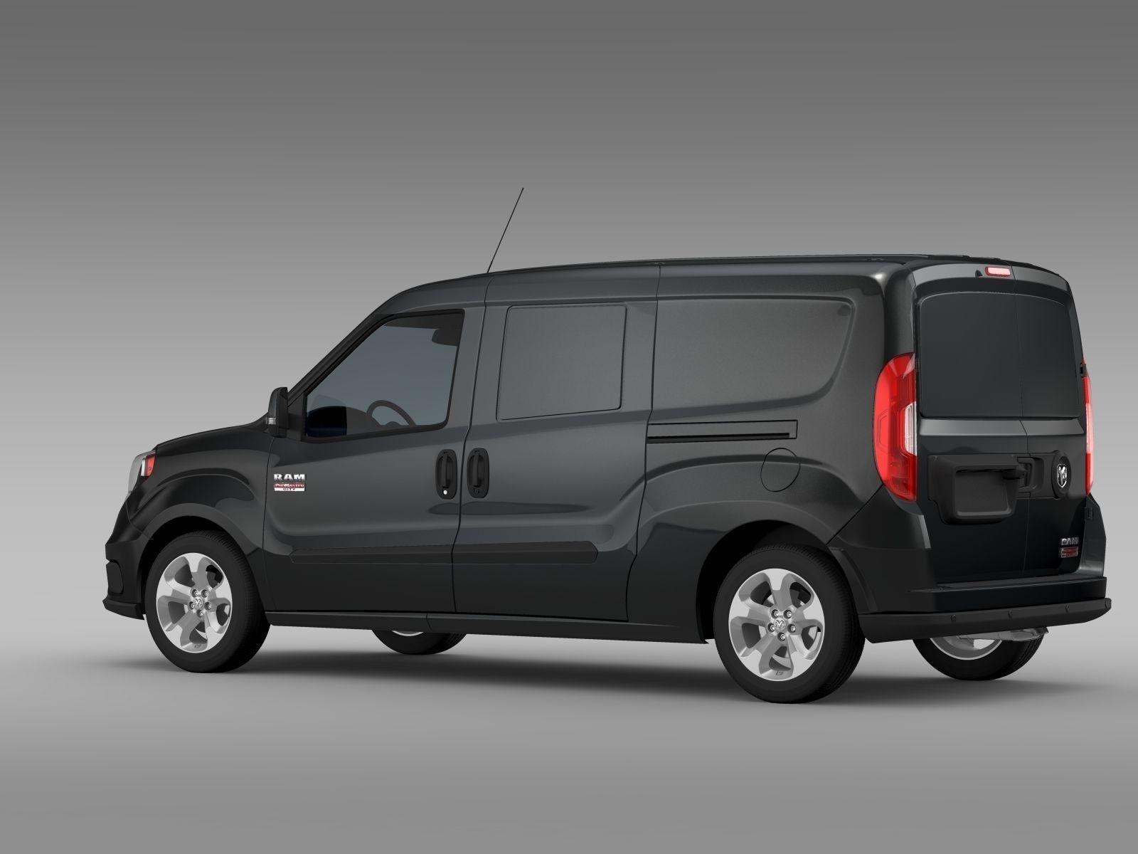Ram Promaster City Tradesman Slt Cargo Van 2017 Model Max Obj Mtl S Fbx C4d