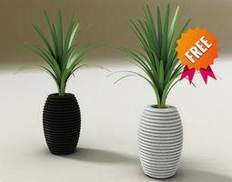 plant pot hard serralunga 3d model