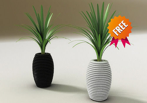 plant pot hard serralunga 3d model max obj mtl 3ds 1