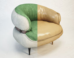 3d model diesel chubby chic armchair by moroso