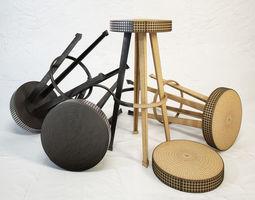 3D model DIESEL Bar Stud stool by Moroso