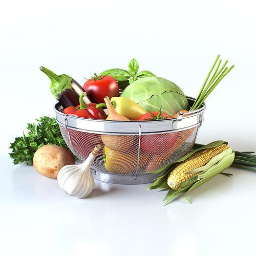 vegetables in the basket 3d model max obj 3ds fbx mtl mat 1