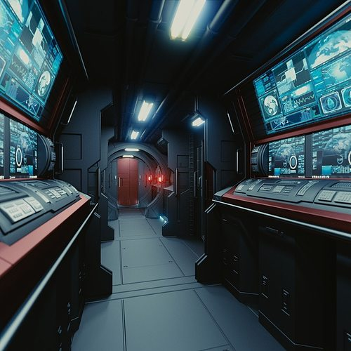 spaceship interior c hd 3d model obj fbx blend mtl 1