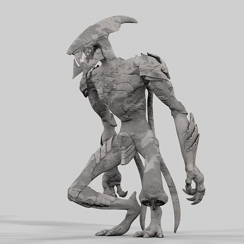 3d printable model monster cgtrader for Monster 3d model