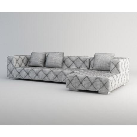 ... Modern Corner Sofa 3d Model Max 5