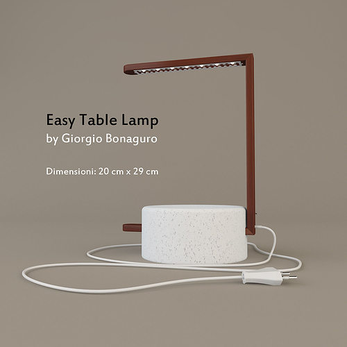 Easy Table Lamp By Giorgio Bonaguro 3D Model