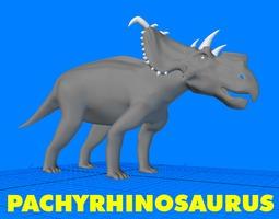 Pachyrhinosaurus Dinosaur 3D