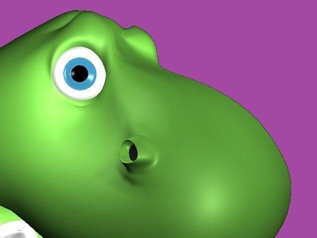 cartoon dinosaur 3d model rigged animated ma mb 1