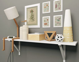 decorative set    1 3d model