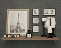 3D model Decorative Set furniture