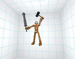 3d print model robot semplicissimo e completo di tutti gli snodi e le armi