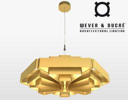 wever ducre jules wabbes modern chandelier 3d