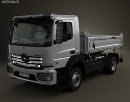 mercedes-benz atego tipper truck 2013 3d model max obj 3ds fbx c4d lwo lw lws