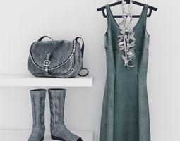 Clothes 3D model boots