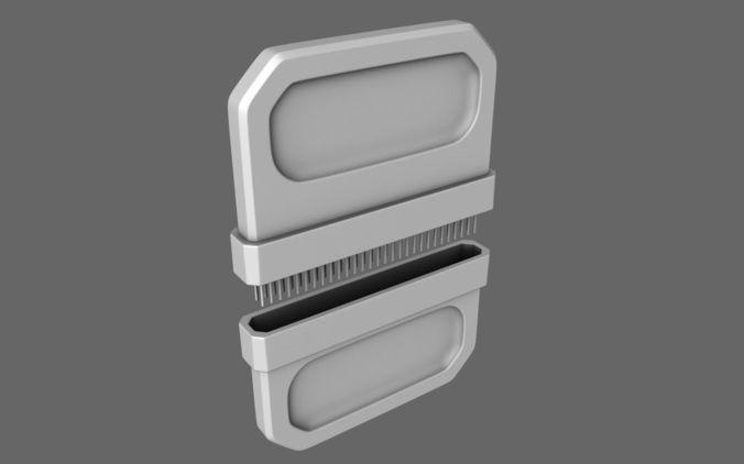 sci-fi nano chip implantate 3d model obj 1