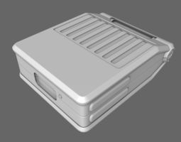 sci-fi doctor first aid suitcase 3d
