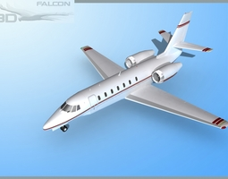 rigged Falcon3D Citation Sovereign C680 FS05