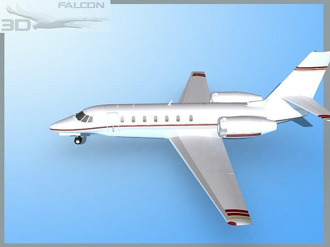 Falcon3d Citation Sovereign C680 Fs05 3d Model Max Obj 3ds Lwo Lw Lws