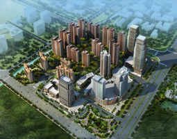 city commercial and residential building design-029  3d model max