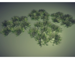 VR / AR ready grass 3d model