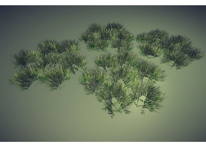 grass 3d model low-poly obj 3ds lwo lw lws hrc xsi blend 1