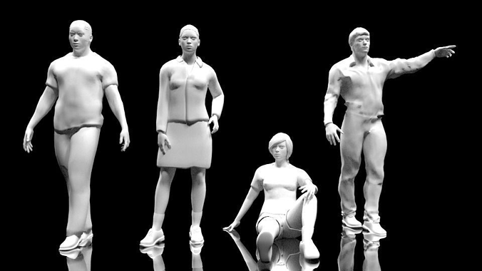 People low-poly