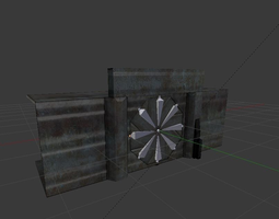 game-ready door component 4 rigged and animated 3d model