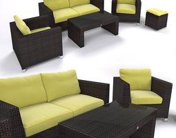 3d garden furniture - synthetic rattan set - ato venedig